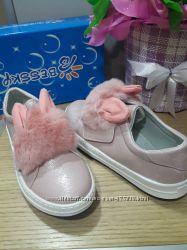 Распродажа Демисезонные слипоны мокасины туфли Bessky KLF рр. 32 33 34 35