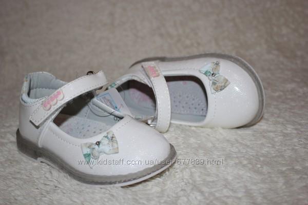 Распродажа стильные туфли для девочки бренда eebb р.22 - 13,5 см