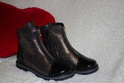 Демисезонные ботинки для девочки натуральная кожа N-Style р. 33  21 cм р. 37
