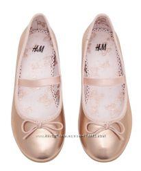 Туфли, балетки нарядные девочке 28 размер