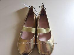 Нарядные туфли, балетки H&M девочке 26, 27, 28, 29, 30 размер Англия