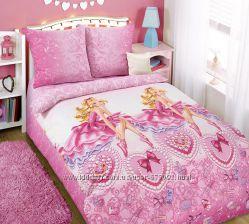 Красивое постельное белье для девочек с балериной Блеск - 100 хлопок