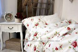 Качественное постельное белье из ранфорса с розами Традиция