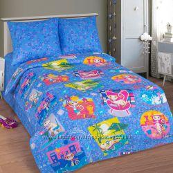 Модное постельное белье для девочек с кошечками Уик-энд - 100 хлопок