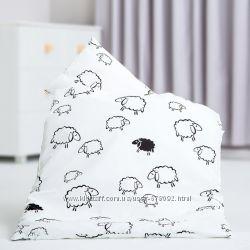Стильное детское постельное белье Овечки черно-белые. Польский хлопок