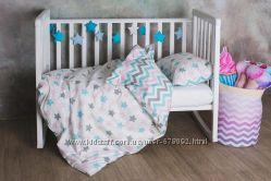 Модное детское постельное белье со звездами-пряниками и зигзагами