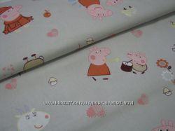 Детское постельное белье Свинка Пеппа сатин, 100 хлопок