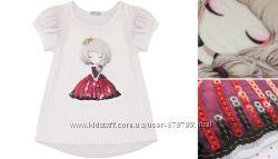 футболка с паетками, модная, новая, от 86р до 128р