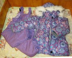 Комплект зимняя курточка на овчине и штанишки Кроха