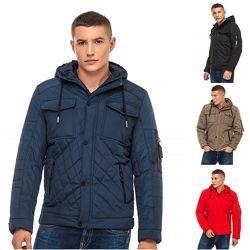 Стеганная короткая деми куртка, мужская деми курточка
