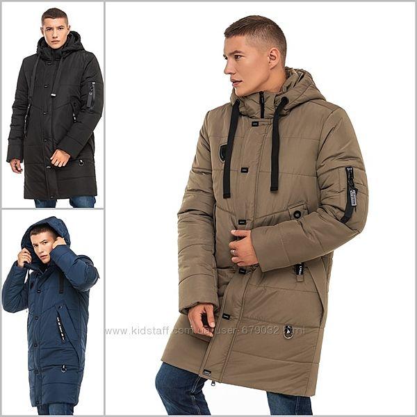 Стильная удлиненная мужская зимняя куртка, курточка зима длинная