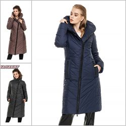 Стильное зимние пальто с широким воротником, зима пальто по колено