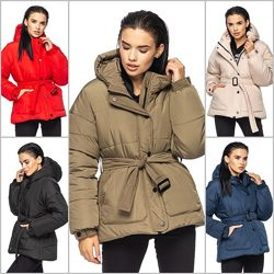 Стильная зимняя курточка с глубоким капюшоном, куртка зима