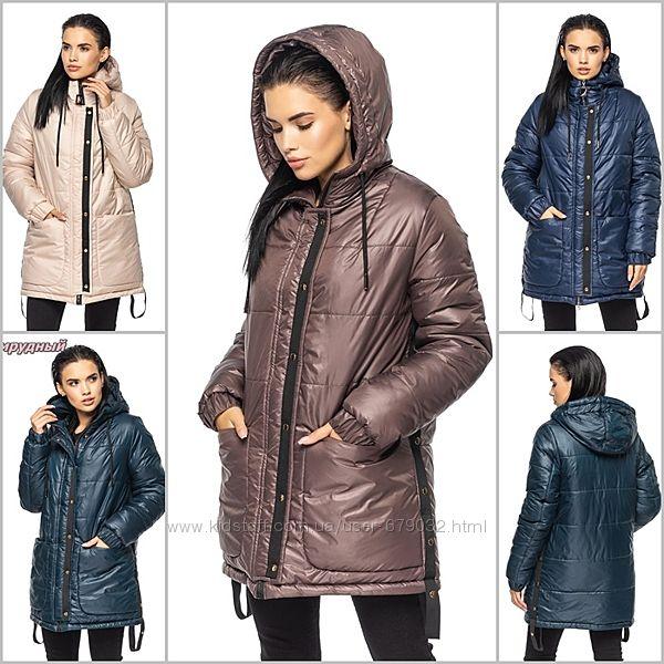 Модная удлиненная зимняя куртка с глубоким капюшоном, куртка зима