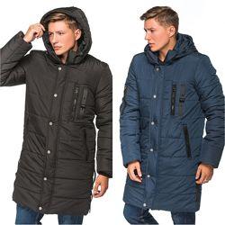 Удлиненная мужская зимняя куртка пальто, курточка мужская зима длинная