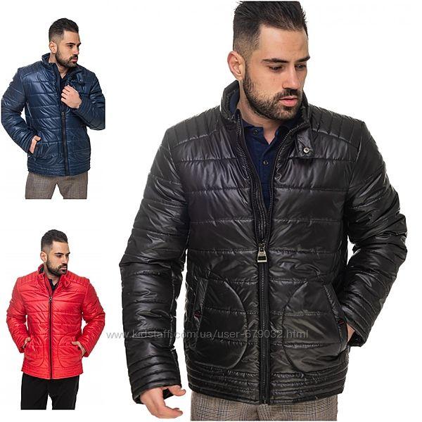 Демисезонная мужская стеганная куртка, деми куртка стеганка