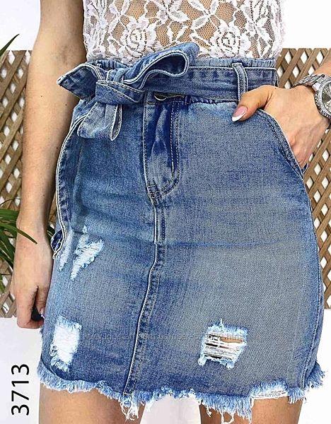 Распродажа Стильная джинсовая юбка багги с высокой посадкой