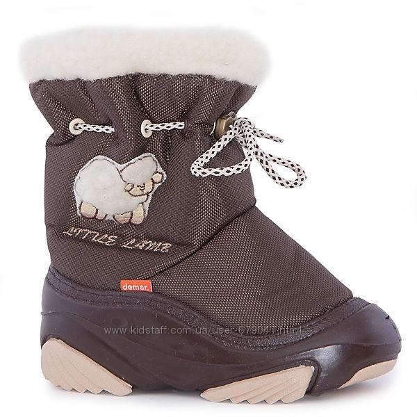 зимние дутики детские Demar Little Lamb коричневые