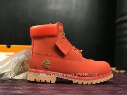 Ботинки женские демисезонные Timberlend  red new