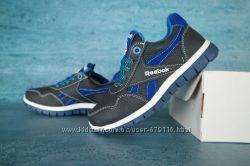 Детские кожаные кроссовки Reebok Синий&92Голубой 10359