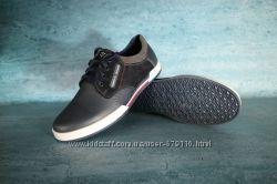 Мужские кожаные кроссовки Tommy Hilfiger Синие 10741 ace72ac323110