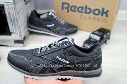 Подростковые кожаные черные кроссовки Reebok 10885