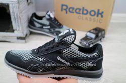 Подростковые кроссовки Reebok черные плотная сетка 10883