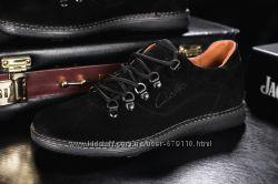 Мужские кожаные повседневные туфли Clarls Черные 655chernyezamsha e23afc3d612