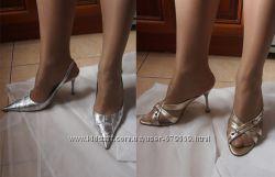 босоножки Enrica Pontini 39 золото и серебро Nazzareno Ripa 39