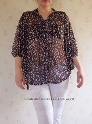 блуза Kookai M-L с бантом, полиэстр Франция