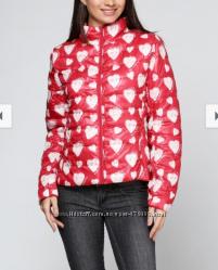 куртка Desigual евро 42 L  и 38 xs - s  тонкий синтепон сердечки