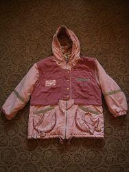 Куртка деми c&a 140 деми светоотражение для полненькой девочки
