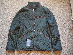 Стеганая деми куртка McCrain m темно-зеленая