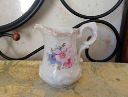 Кувшин молочник барановка 50е ссср цветы