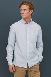 Рубашка классика H&M хлопок на XL