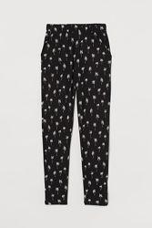 Летние штаны H&M в пальмы вискоза на 11-12 лет
