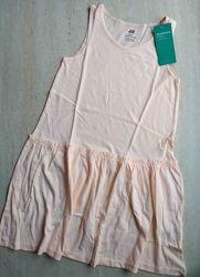 Сарафан персиковый H&M органический эко хлопок 6-8 лет