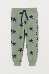 Спортивные штаны H&M в звезды хлопок на 5-6 лет