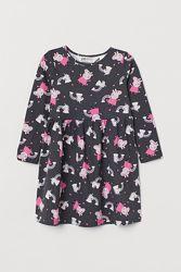 Платье с Пэппа и единороги H&M хлопок на 6-8 и 8-10 лет