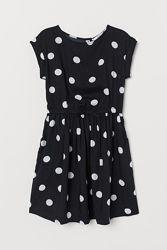 Платье в крупный горох H&M на 6-7 лет