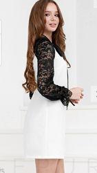 Коктейльное платье-трапеция 2 стиля 3 цвета