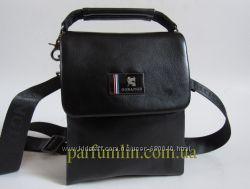 Мужская кожаная сумка барсетка Gorangd через плечо арт-1417