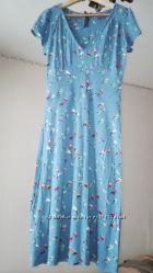 Красивое  платье NEXT с птицами - размер XS