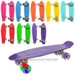 Скейт Пенни Борд - penny board светящиеся колеса