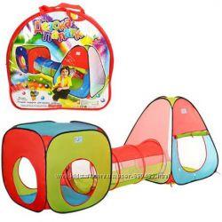 Детская игровая палатка 3 в 1 с переходом М 2958  М 2503