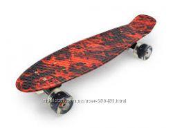Скейт Пенни Борд - Penny board graffity - граффити светящиеся колеса