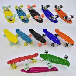 Скейт, пенни борд, Best Board - Penny Board - светящиеся колеса