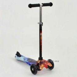 Самокат трехколесный Best Scooter mini - светящиеся колеса, разноцветный