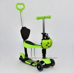 Самокат трехколесный, беговел 5 в 1 - Best Scooter - светящиеся колеса
