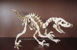 Динозавры и другие животные 3Д пазл из фанеры